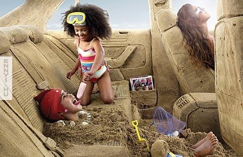 car-sandcastle