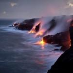 Láva ömlött az óceánba (Hawaii)