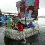 Csónak, teljesen újrahasznosított anyagokból